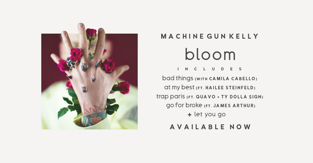 Machine Gun Kelly's groundbreaking new album 'bloom' is now available.